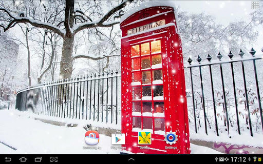 London Snow Wallpaper