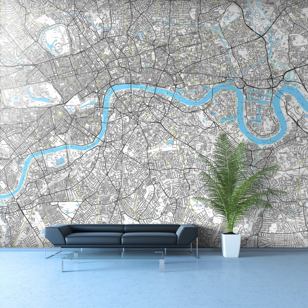 London Street Map Wallpaper