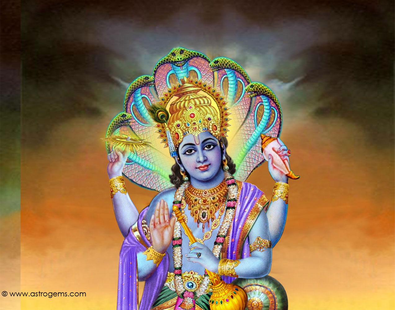 Lord Vishnu Animated Wallpapers
