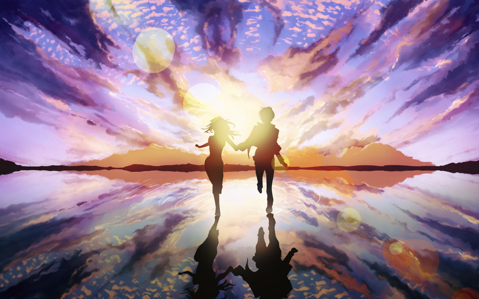 Love Couple Art Wallpaper