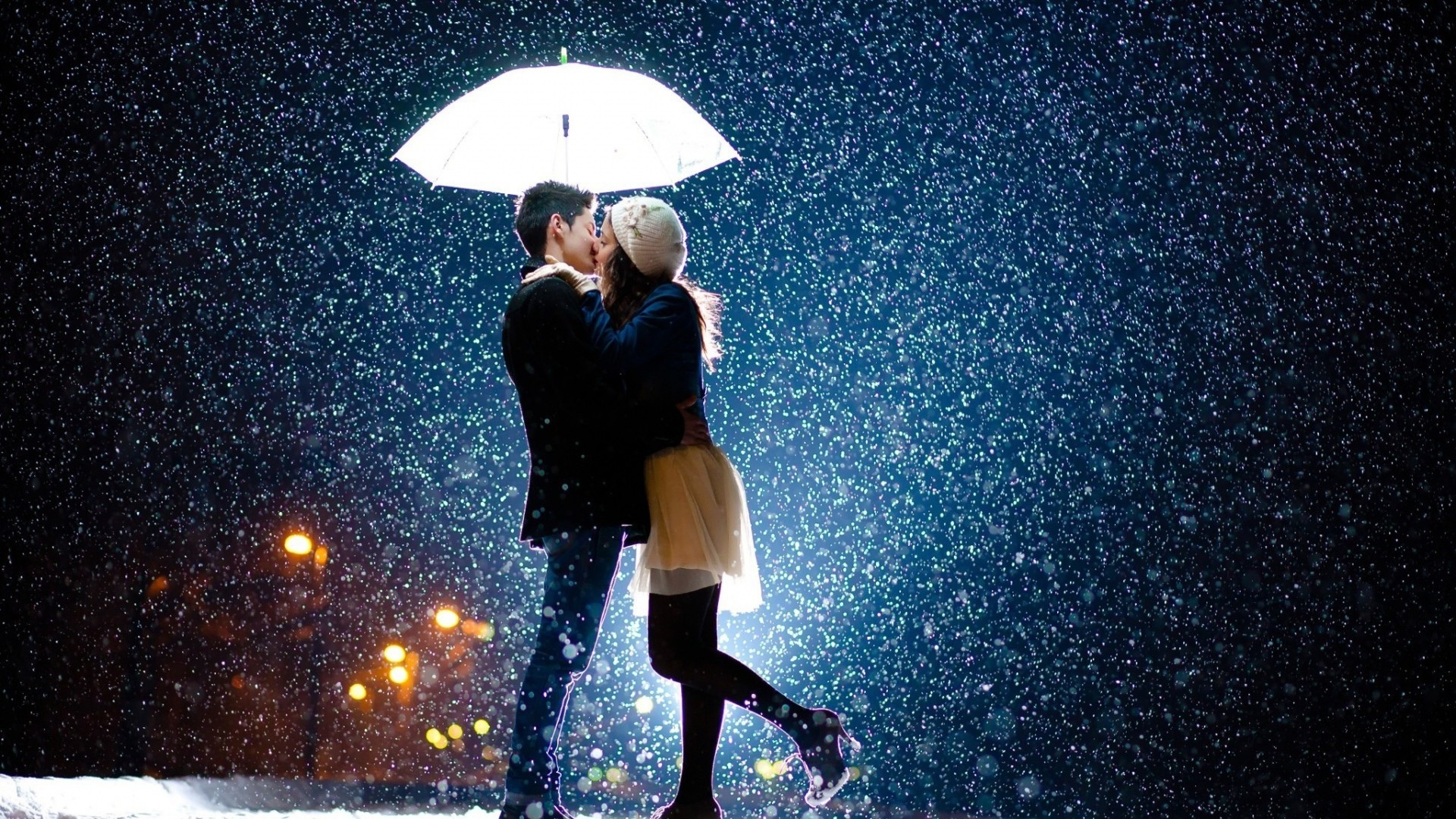 Download Love Couple Rain Wallpaper Gallery