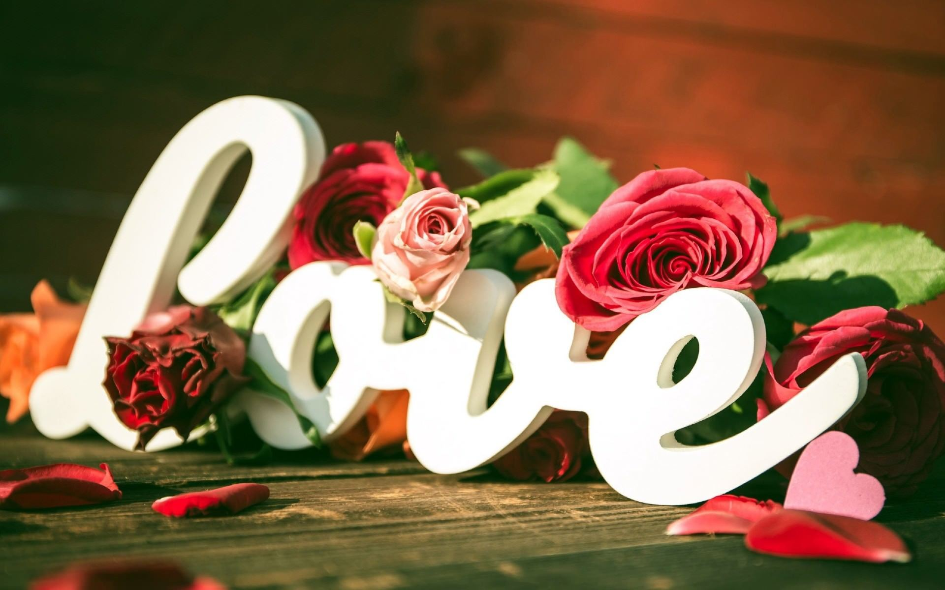 Love Flower Wallpaper For Desktop