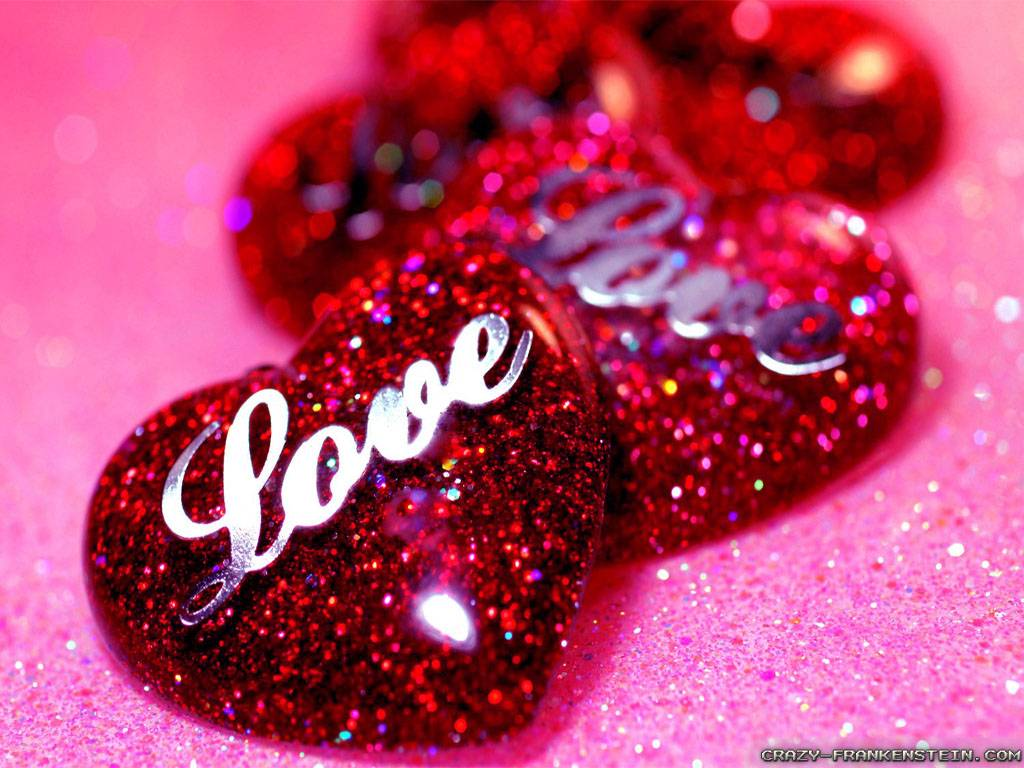 Love Glitter Wallpaper
