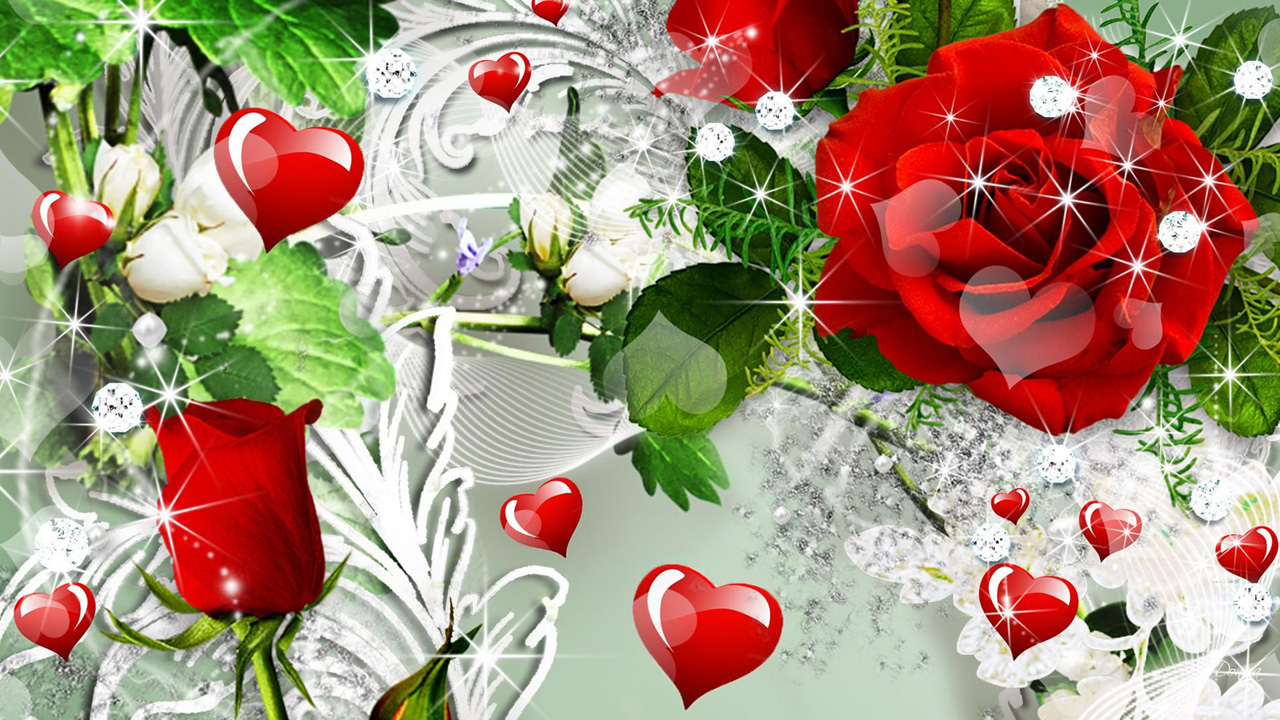 Love Heart Rose Wallpapers