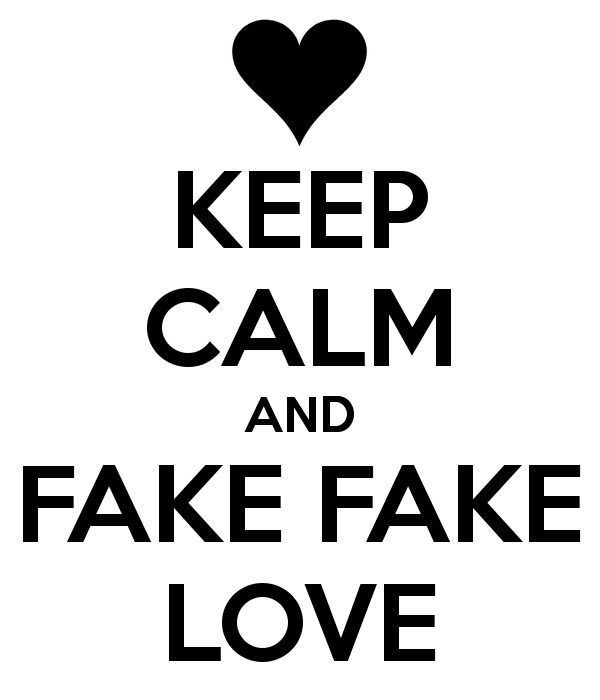 Love Is Fake Wallpaper