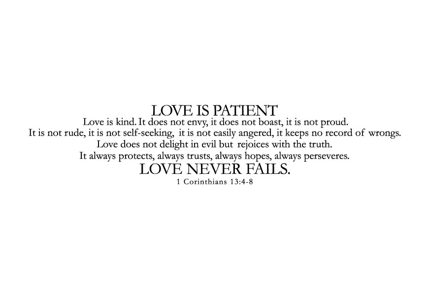 Download Love Is Patient Love Is Kind Wallpaper Gallery
