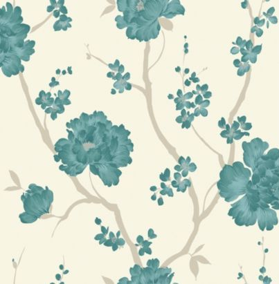 Love Letter Teal Wallpaper