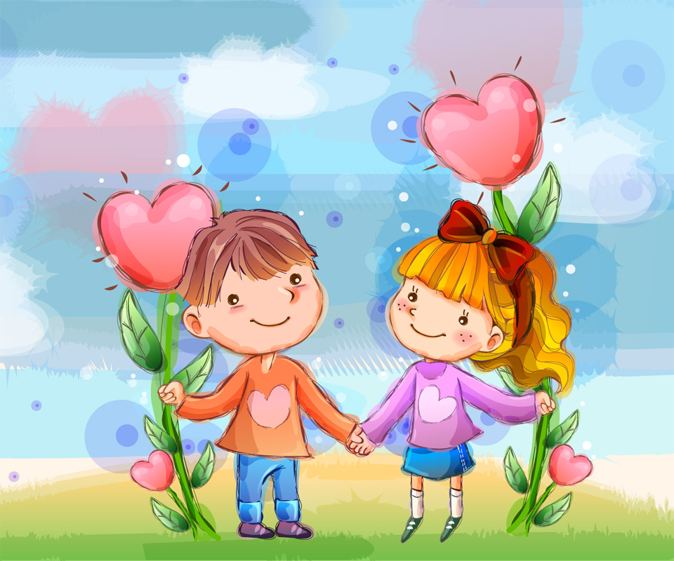 Download Lovely Couple Cartoon Wallpaper Gallery
