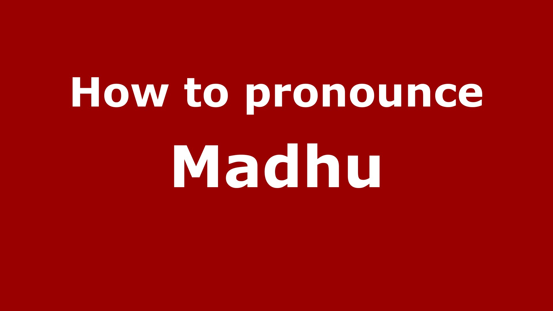 Madhu Name Wallpaper