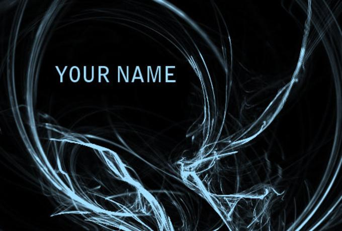 Make A Wallpaper With Your Name