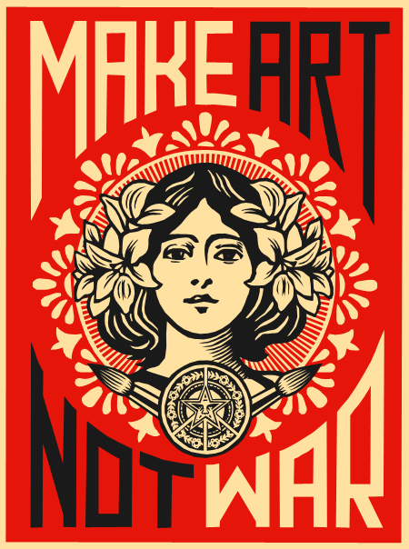 Make Art Not War Wallpaper