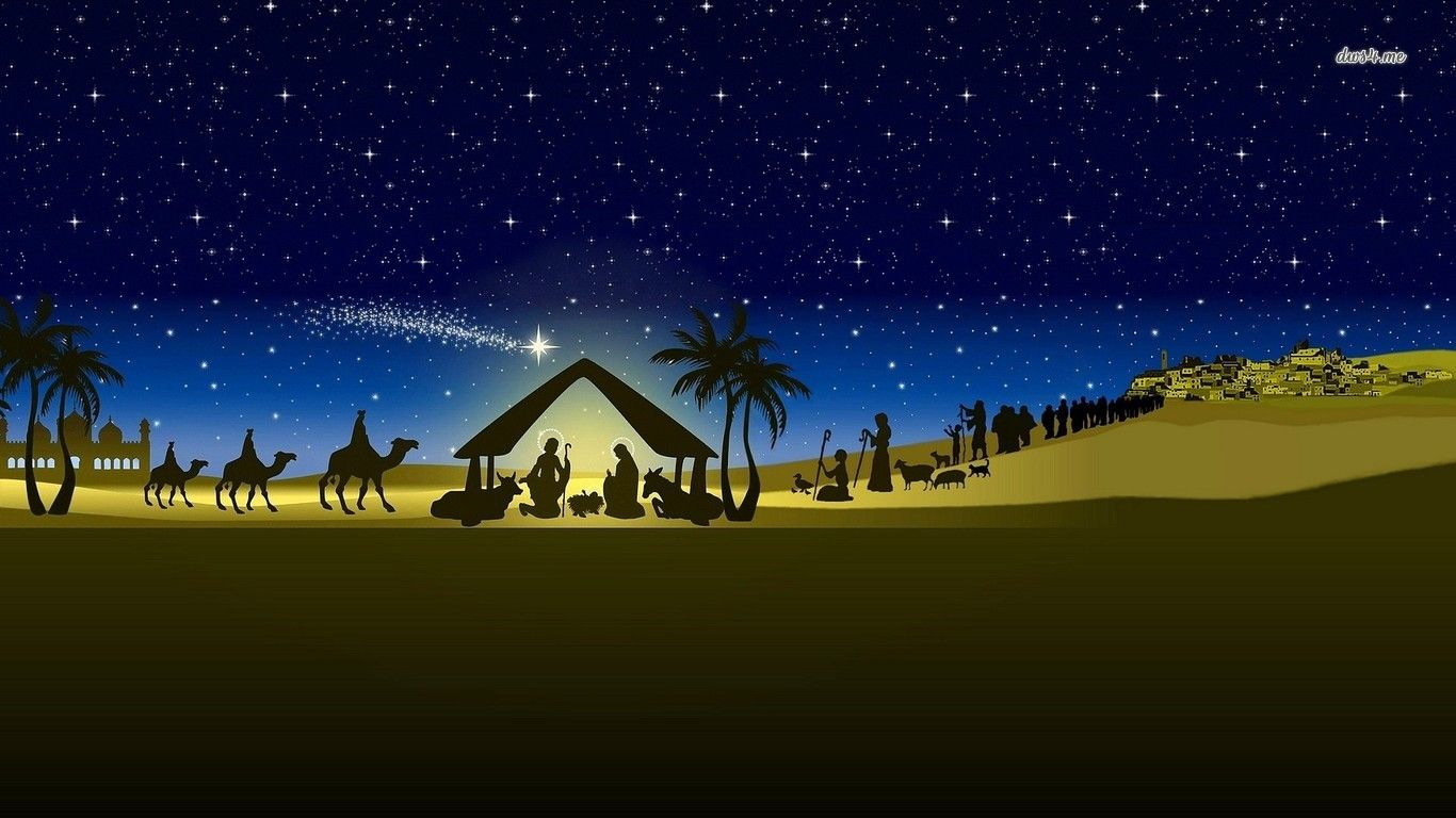 Manger Scene Wallpaper