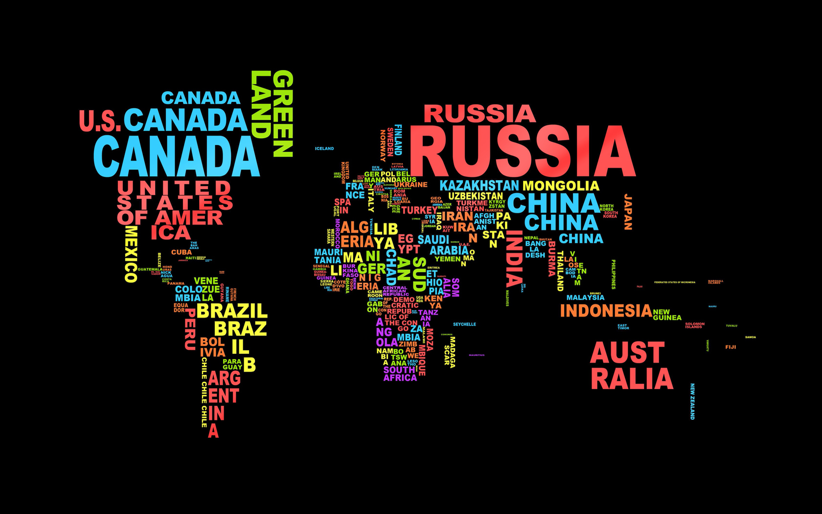 Map Of The World Wallpaper