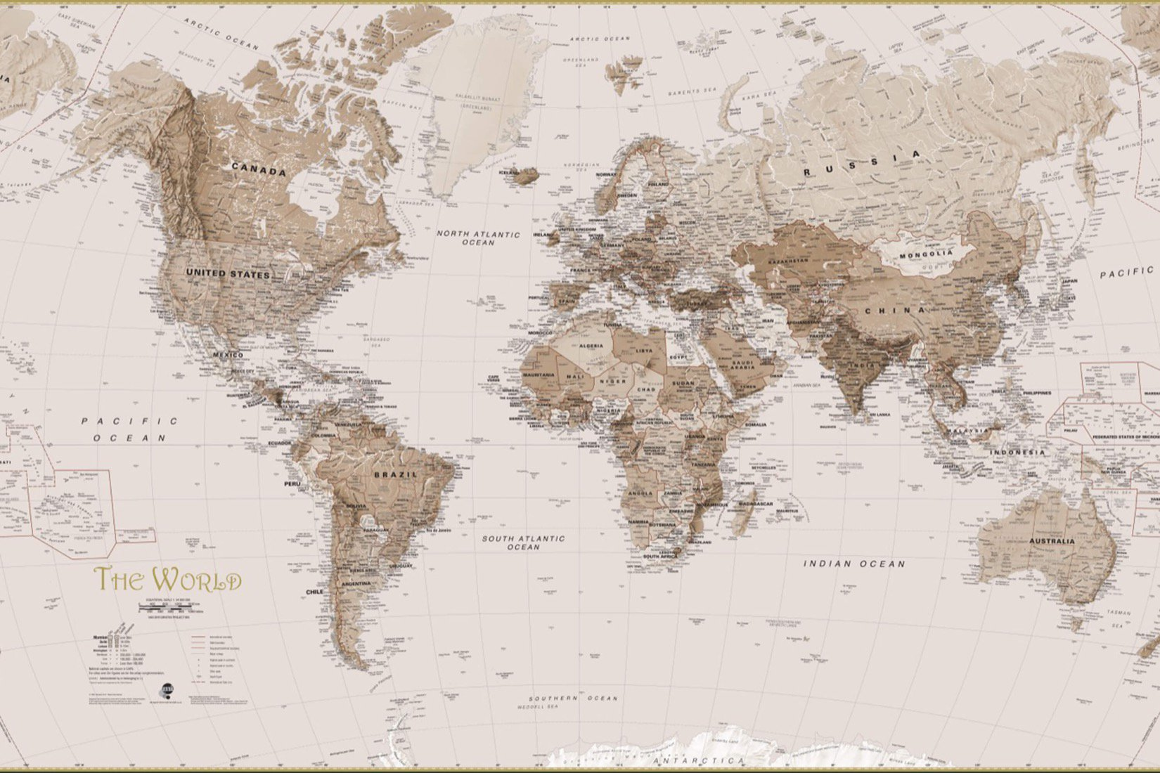 Map Of The World Wallpaper Uk