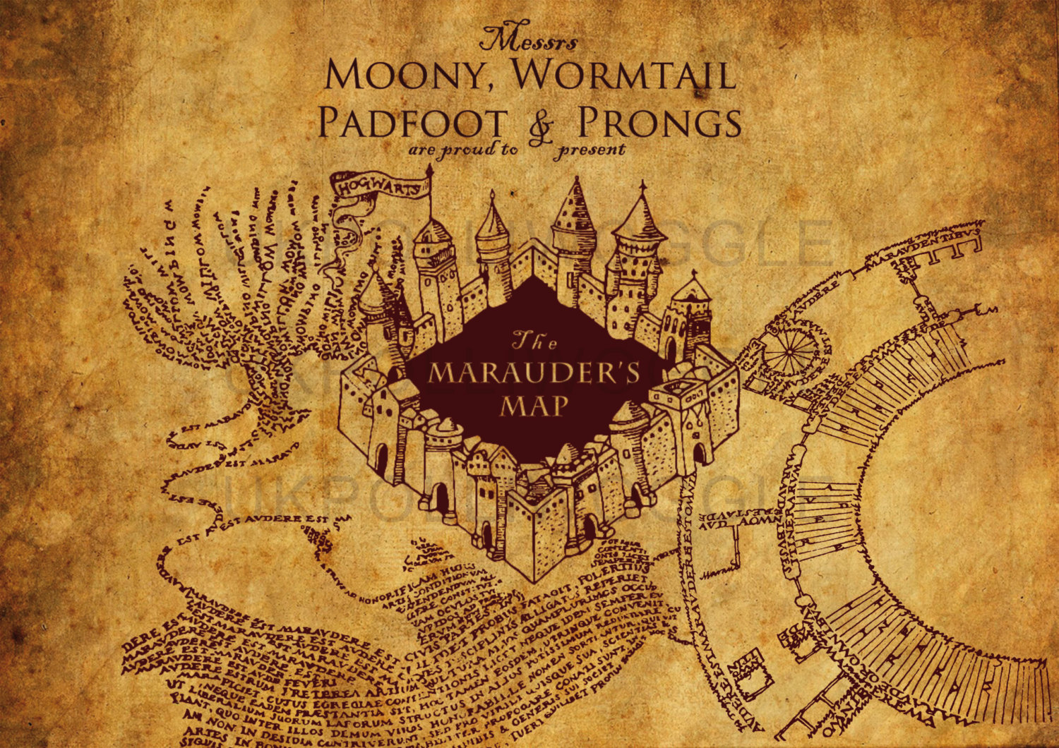 Marauders Map Wallpaper