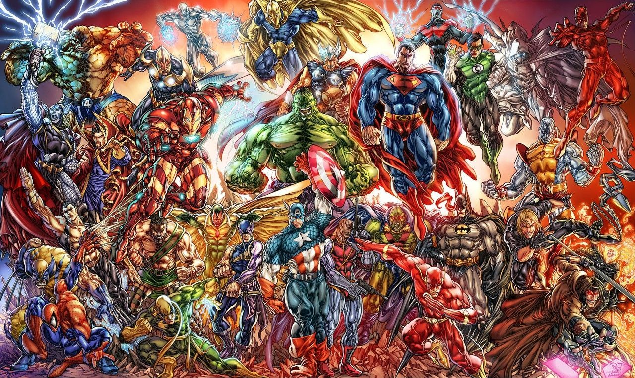 Marvel And Dc Wallpaper