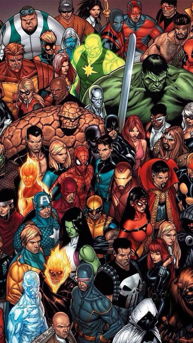 Marvel Heroes Iphone Wallpaper