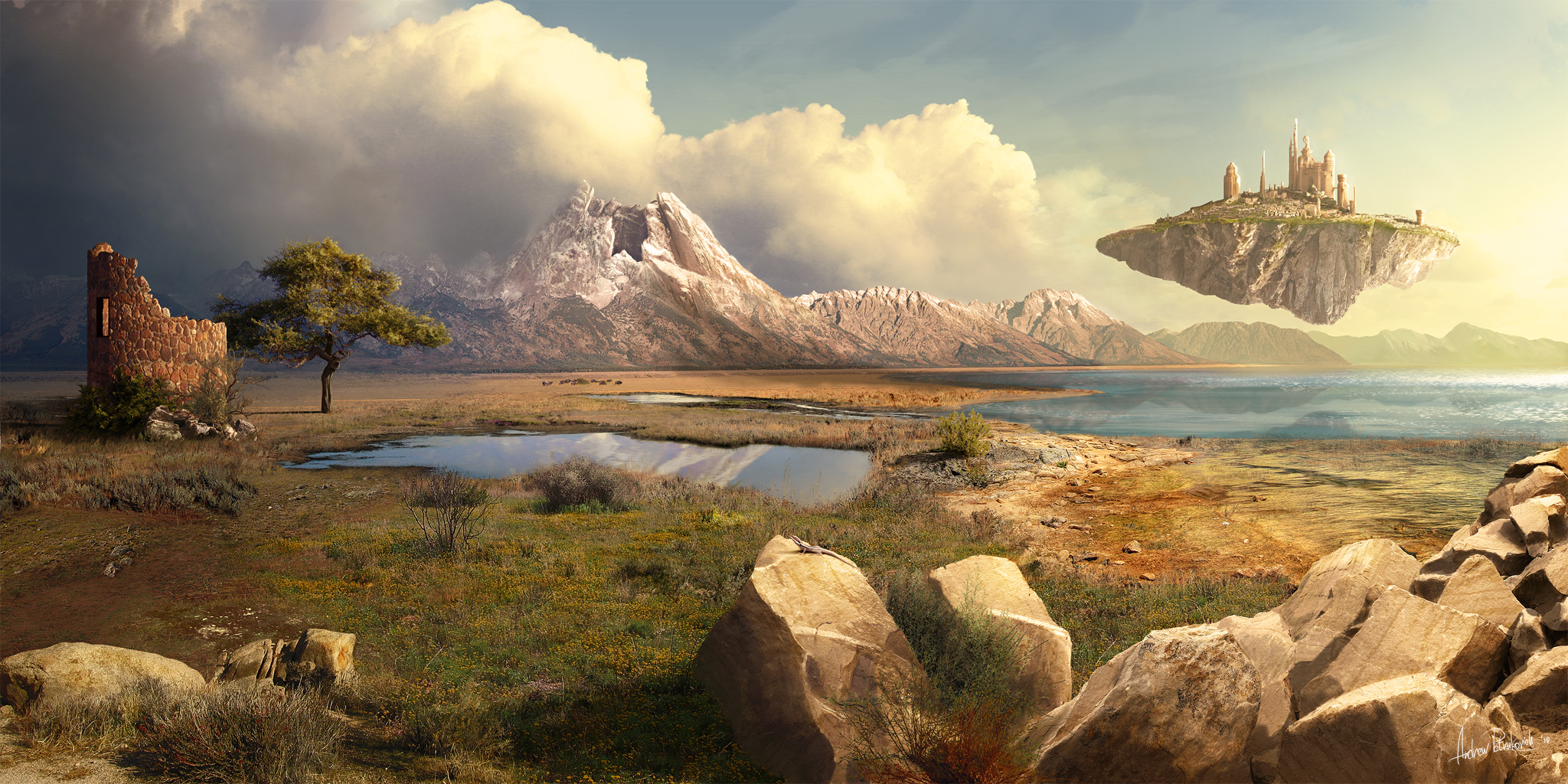 Matte Painting Wallpaper