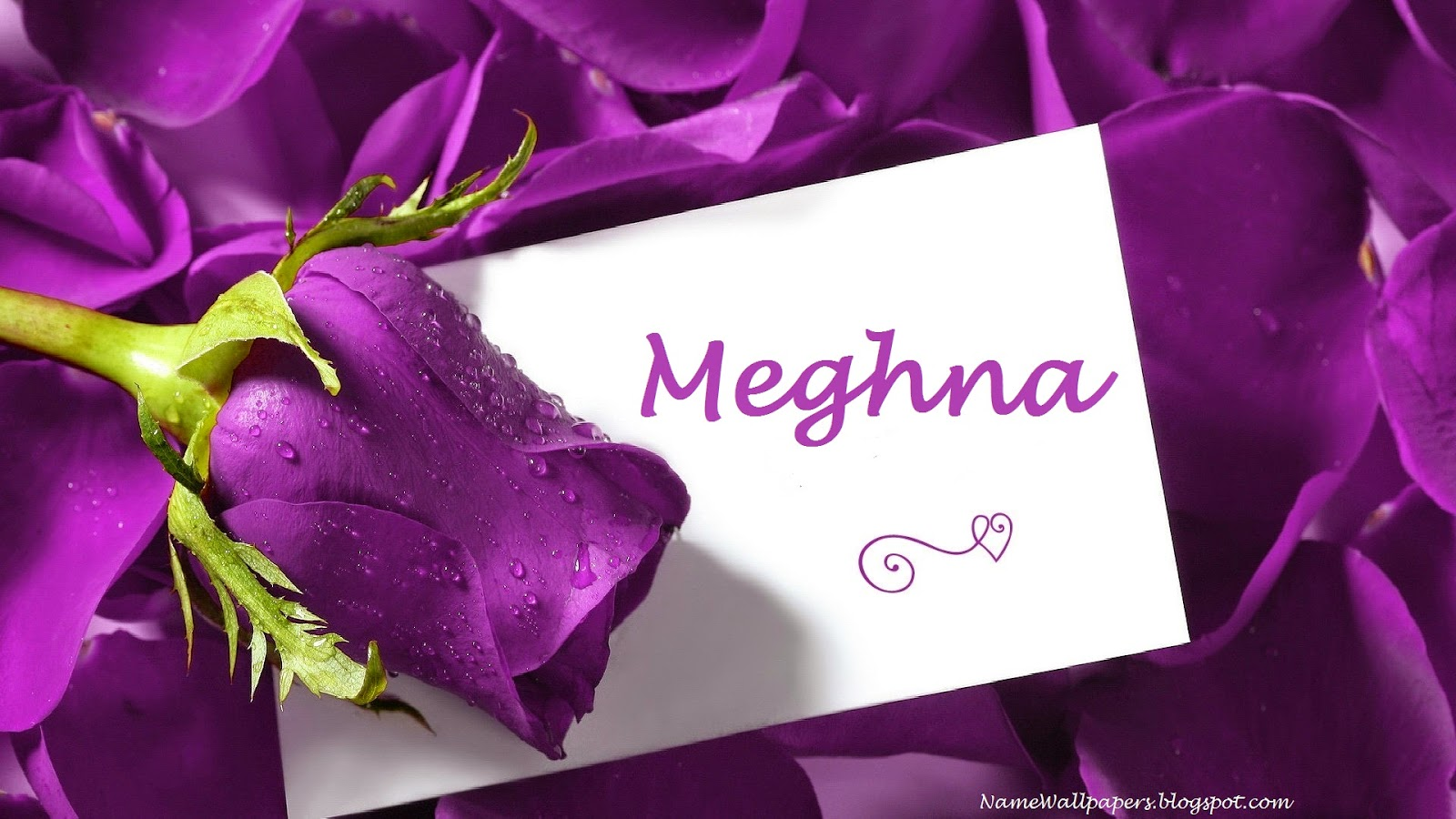 Meghna Name Wallpaper