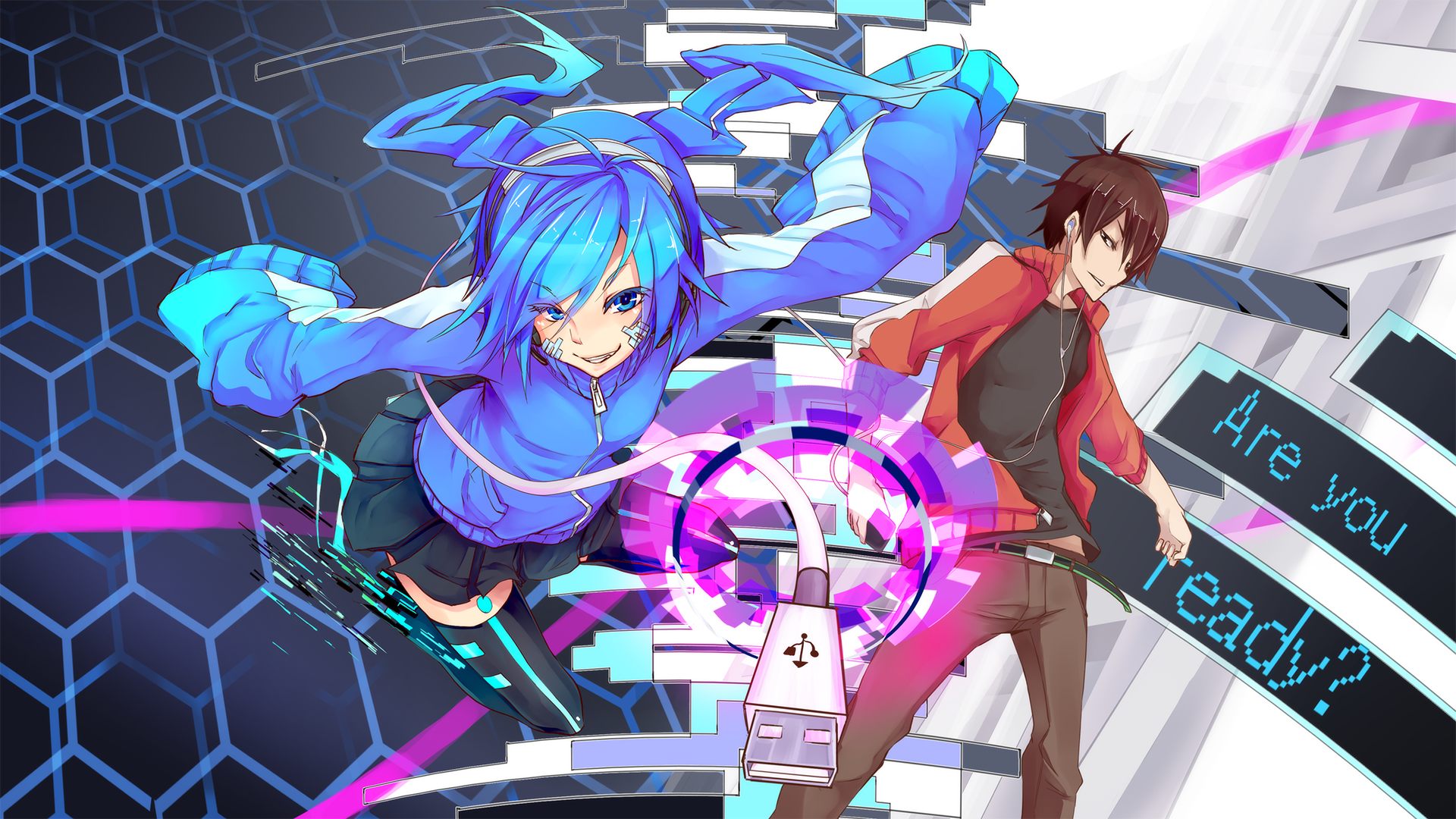 Mekaku City Actors Wallpaper