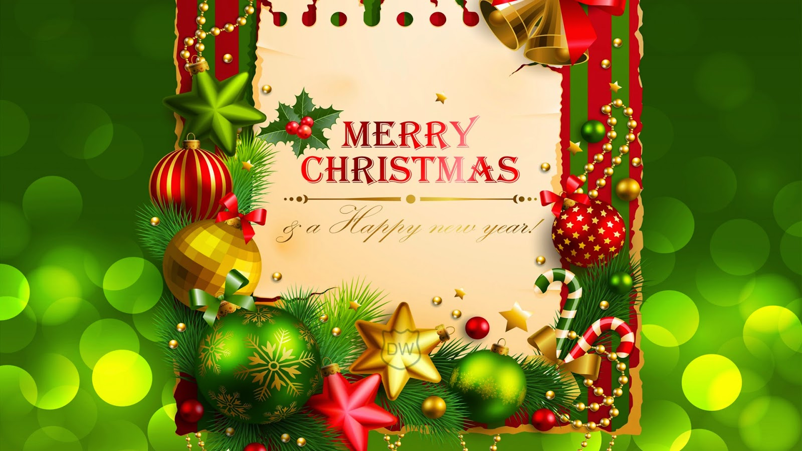 Merry Christmas And Happy New Year Wallpaper 2014