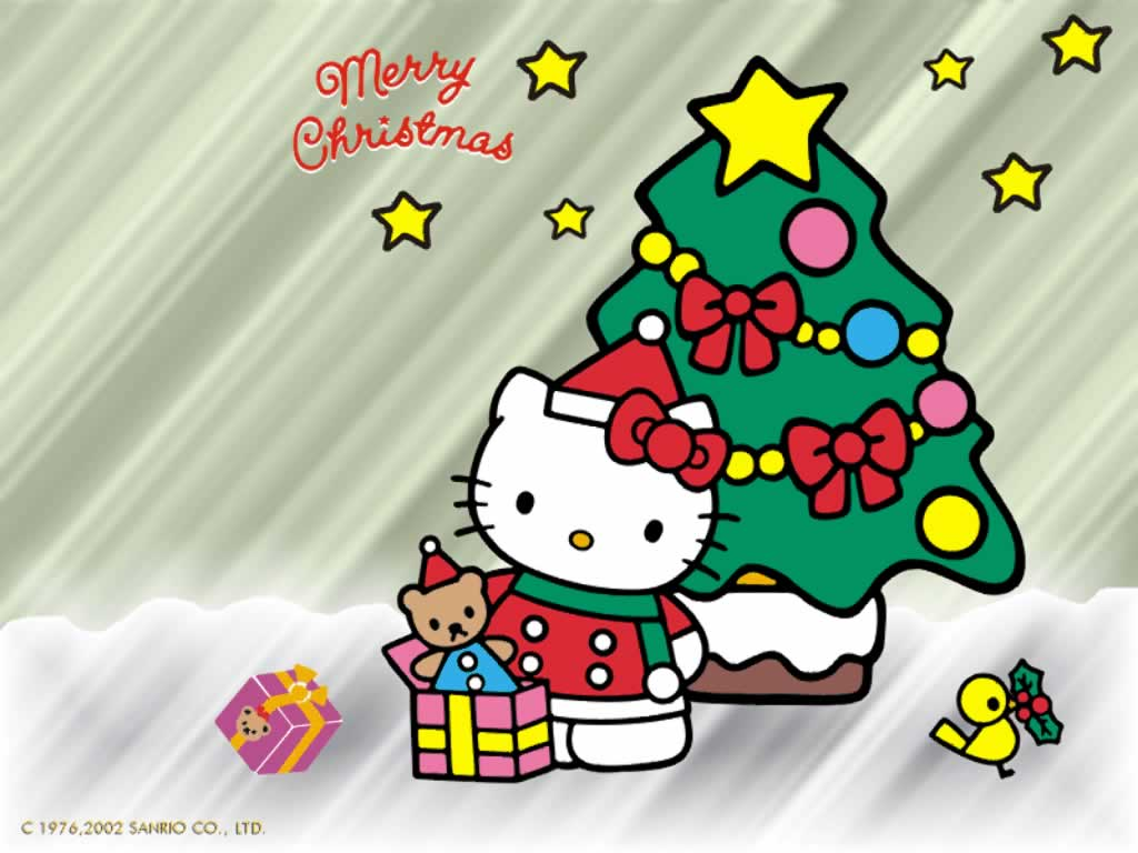 Merry Christmas Hello Kitty Wallpaper