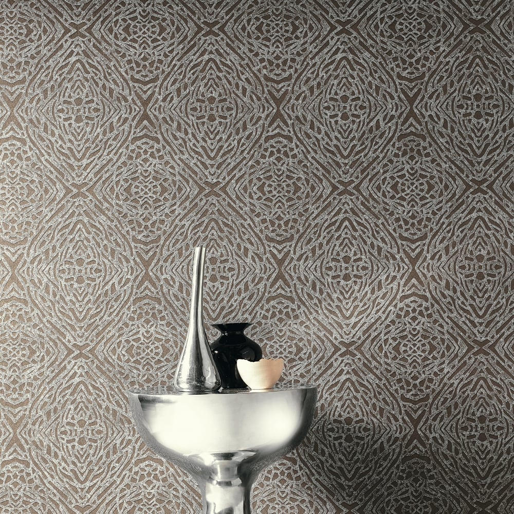Metallic Animal Print Wallpaper