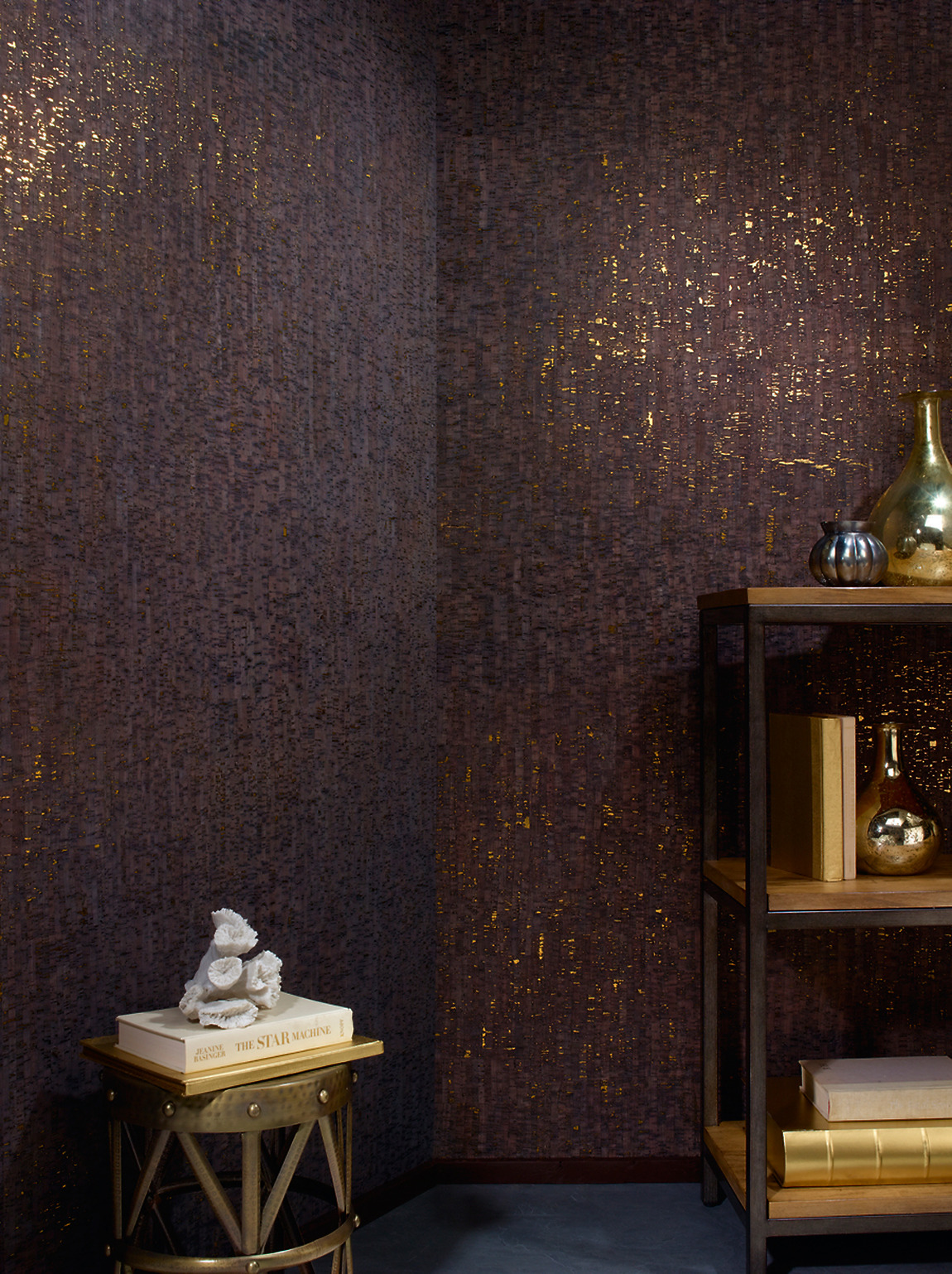 Metallic Cork Wallpaper