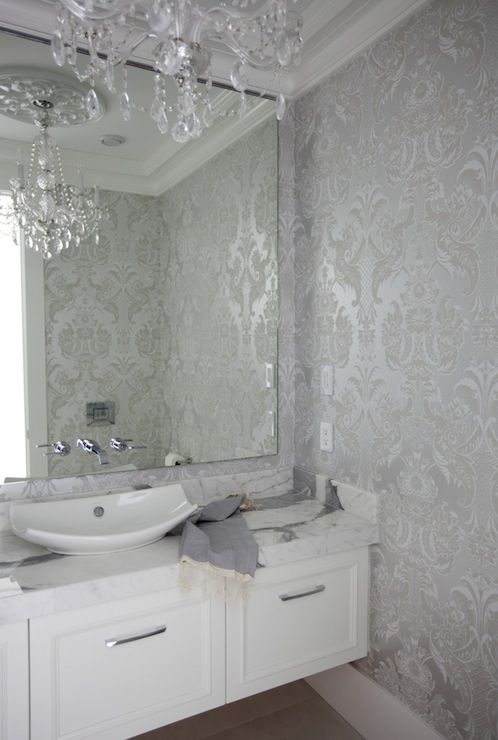 Metallic Damask Wallpaper