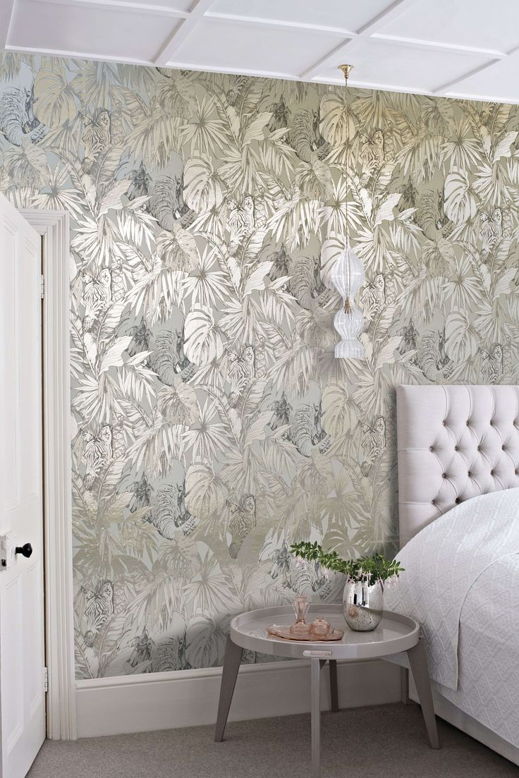 Best 25 Bedroom Wallpaper Ideas On Pinterest | Tree Wallpaper ... Metallic  ...