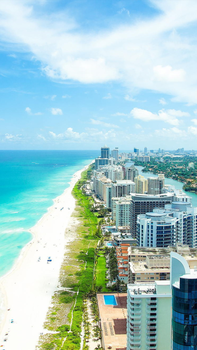 Miami Beach Iphone Wallpaper