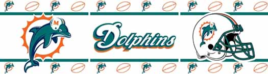 Miami Dolphins Wallpaper Border