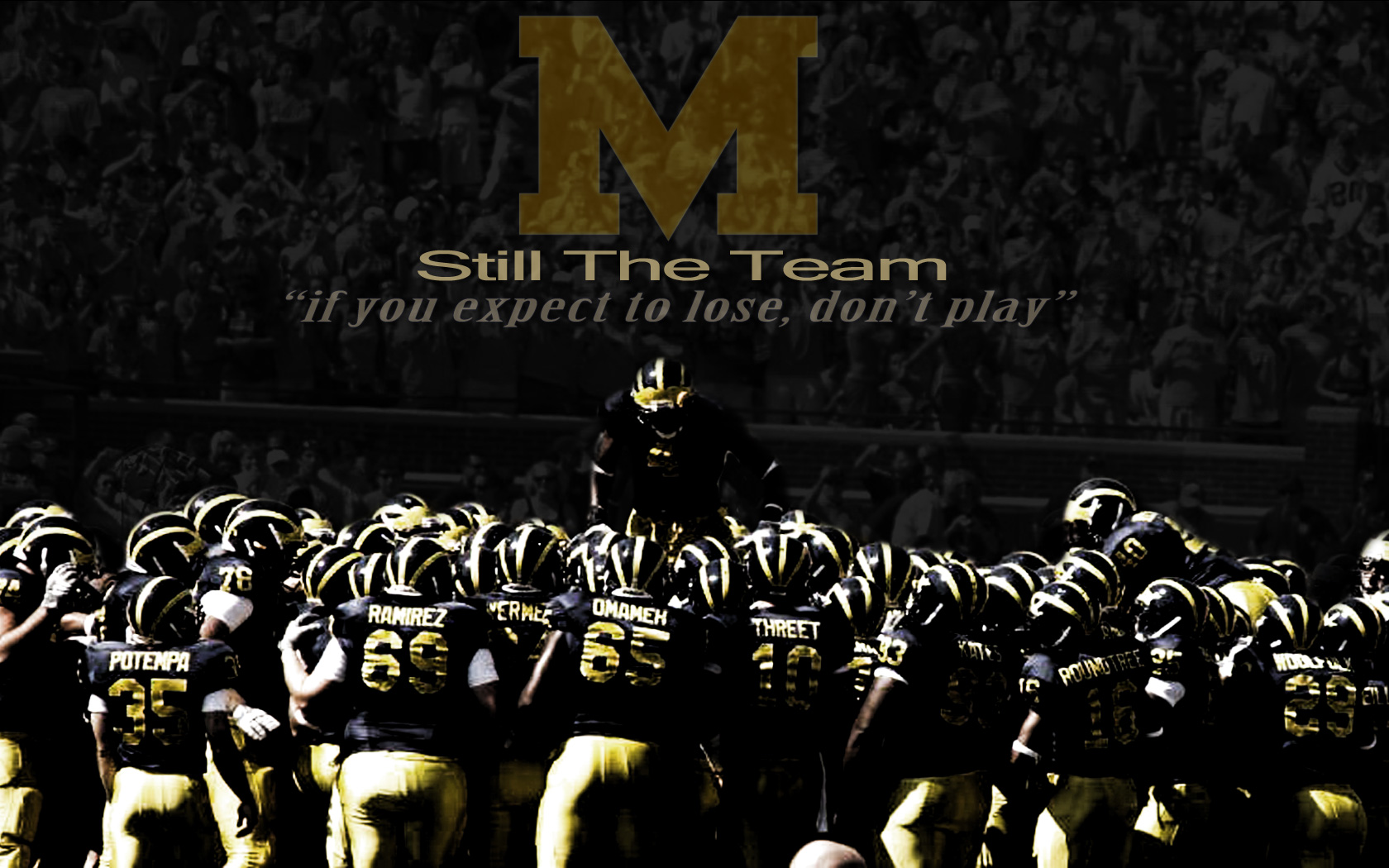 Michigan Football Background Wallpaper