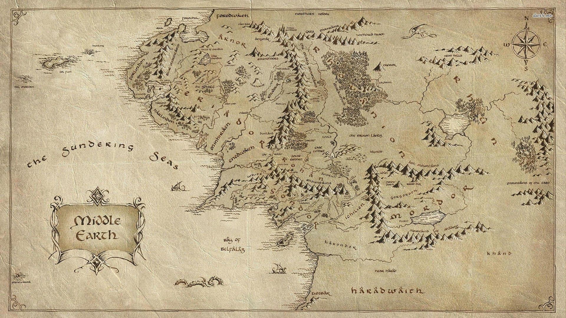 Middle Earth Wallpaper