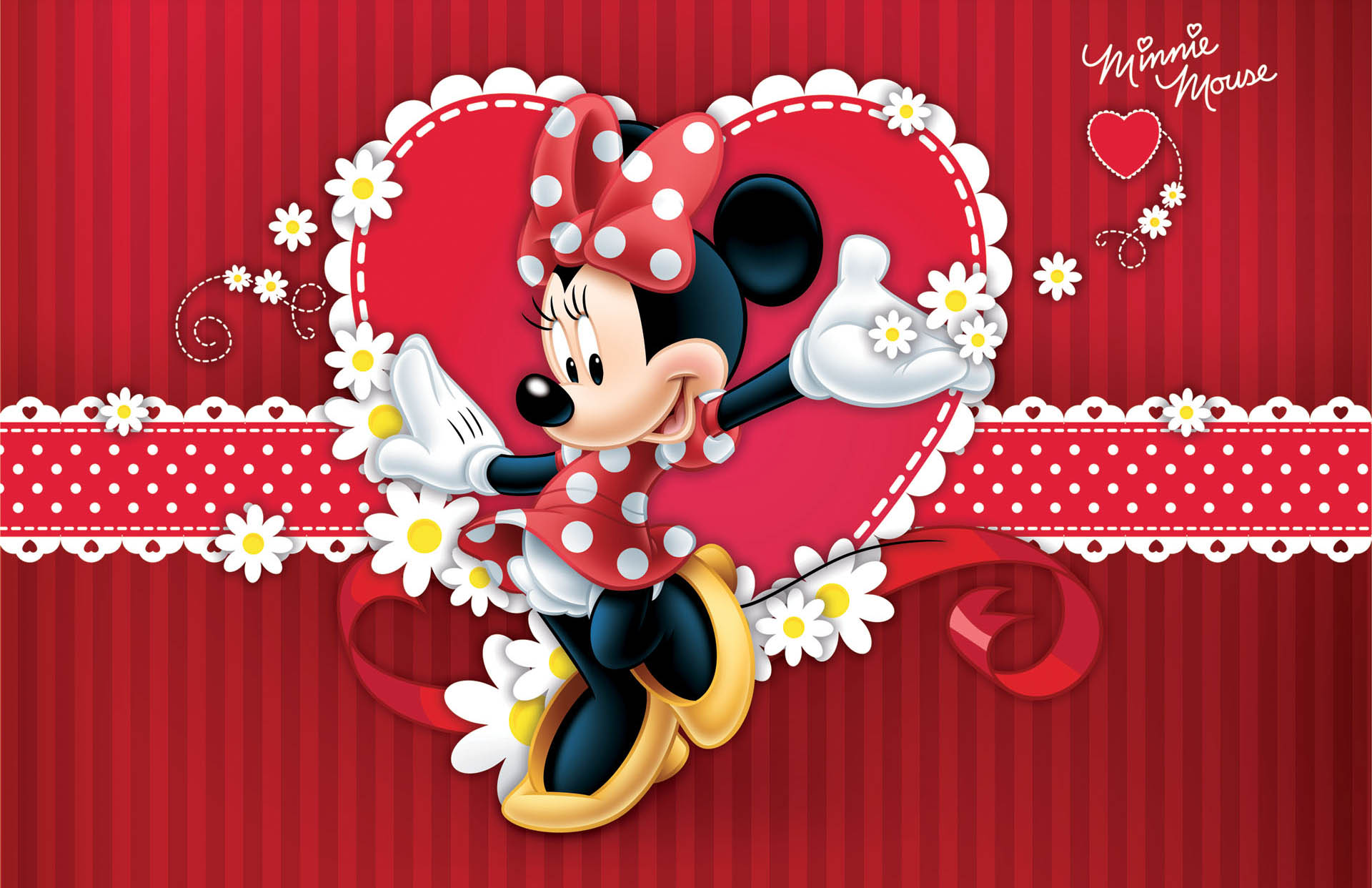 Minnie Mouse Wallpaper Red
