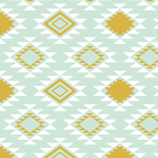Mint And Gold Wallpaper