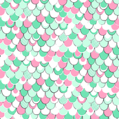 Mint And Pink Wallpaper