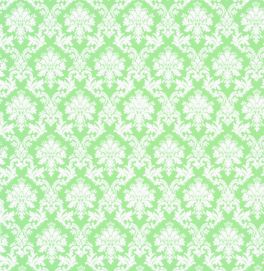 Mint Green Damask Wallpaper