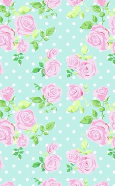 Mint Green Flower Wallpaper