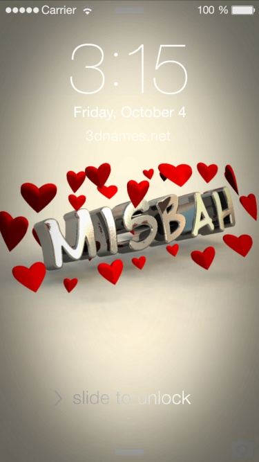 Misbah Name Wallpaper