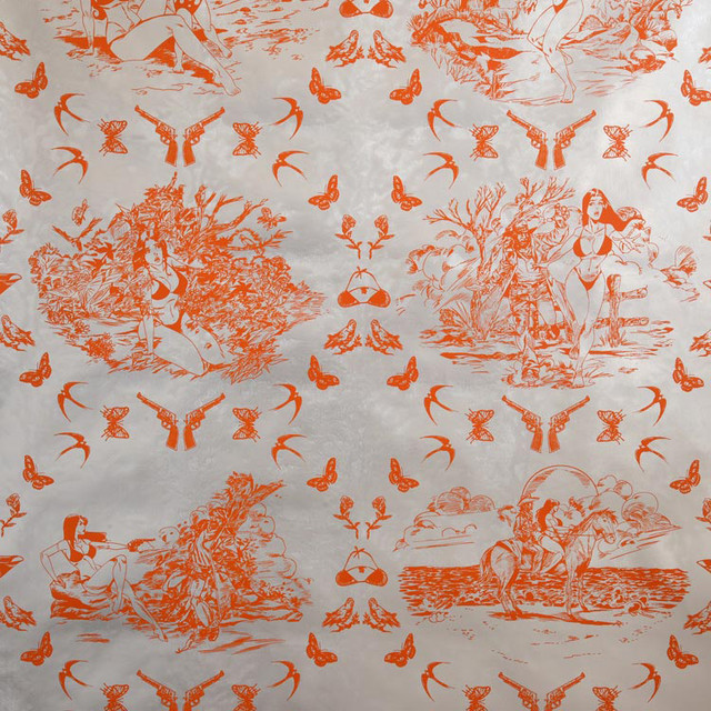 Modern Toile Wallpaper