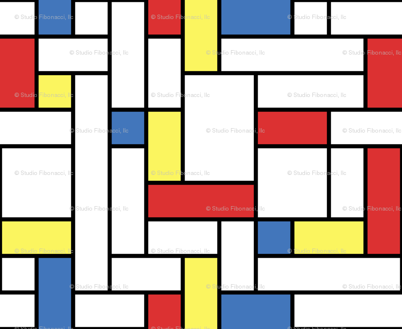 Mondrian Wallpaper