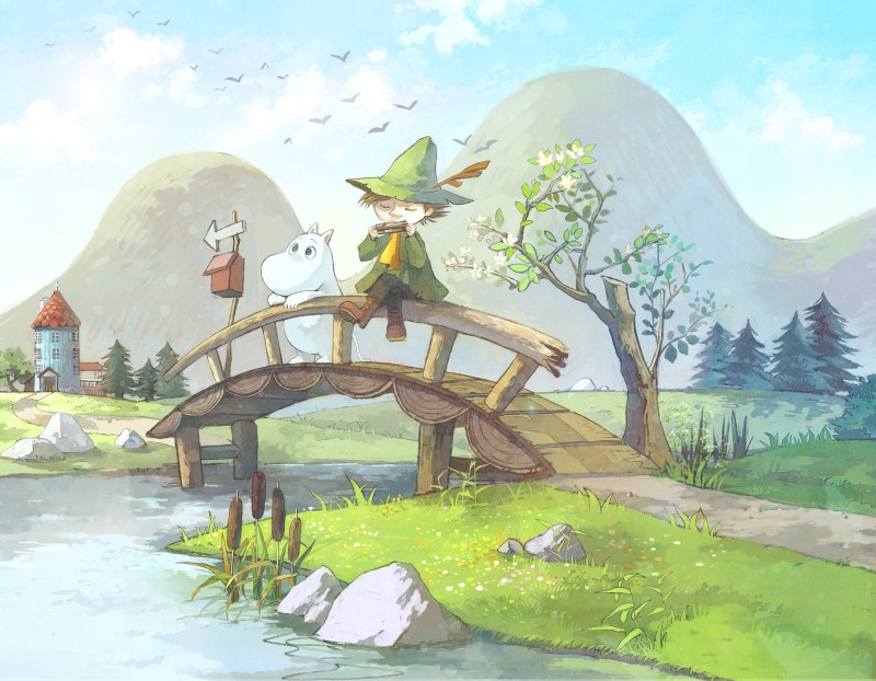 Moomin Valley Wallpaper