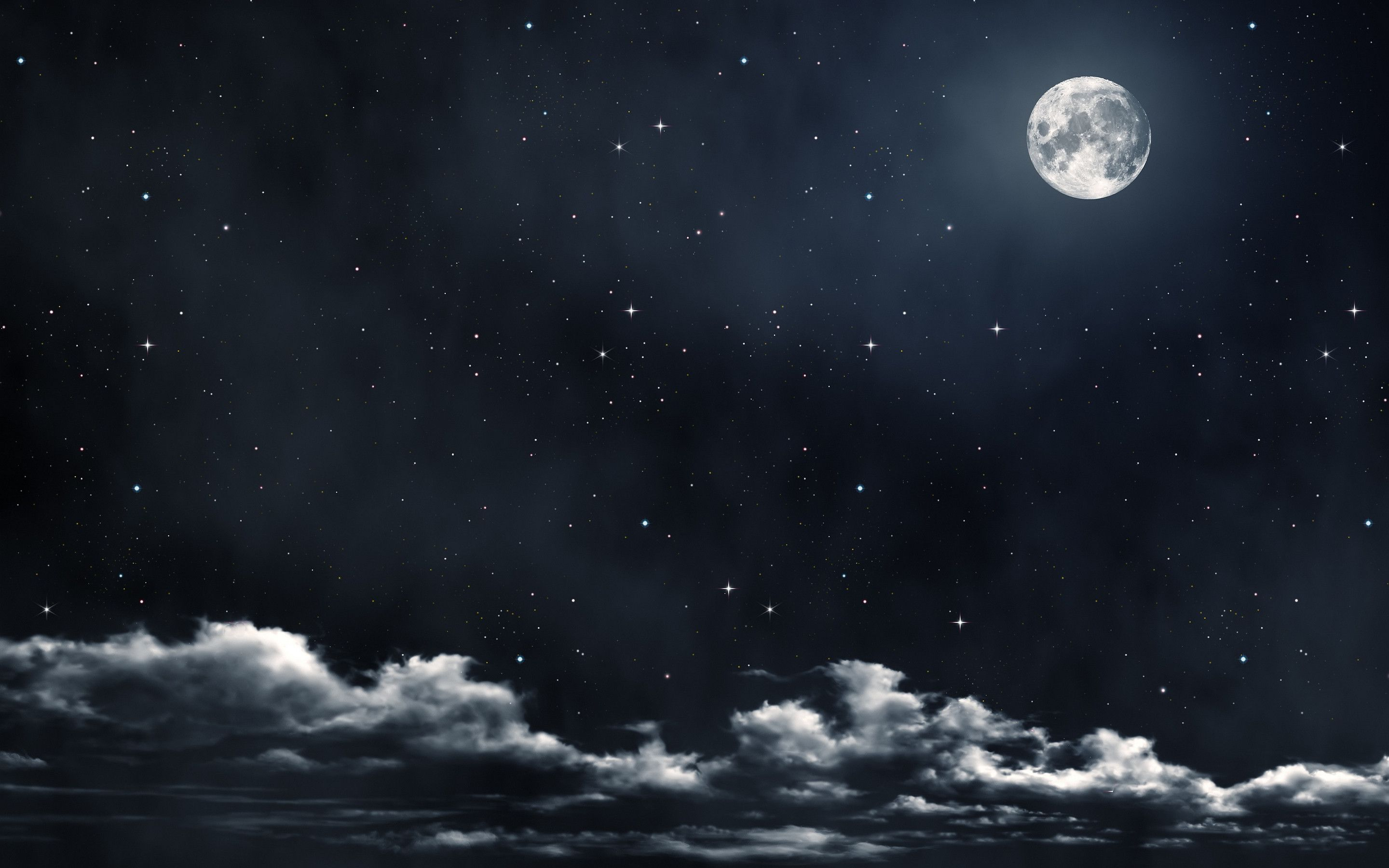 Moon And Star Wallpaper