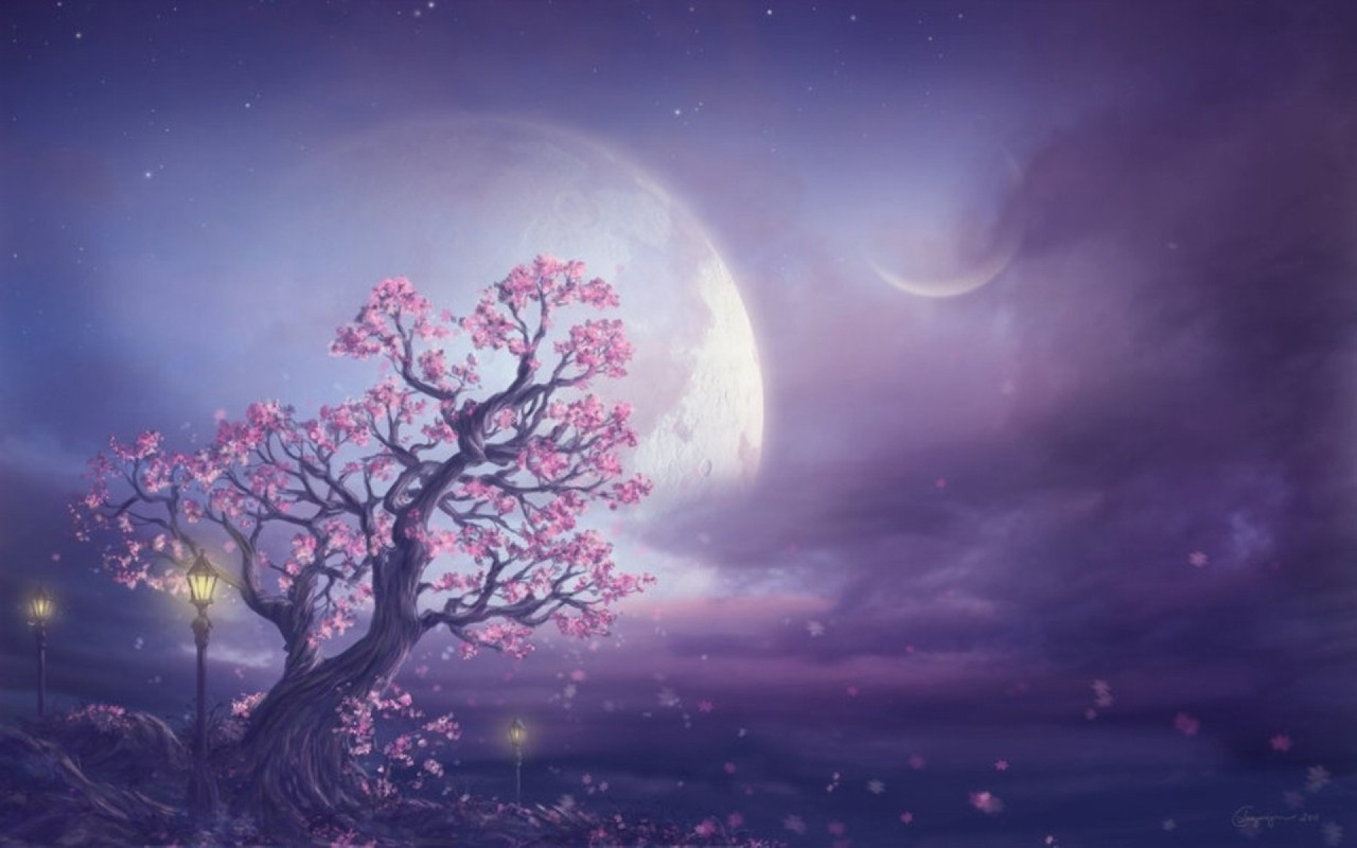 Moon And Tree Wallpaper