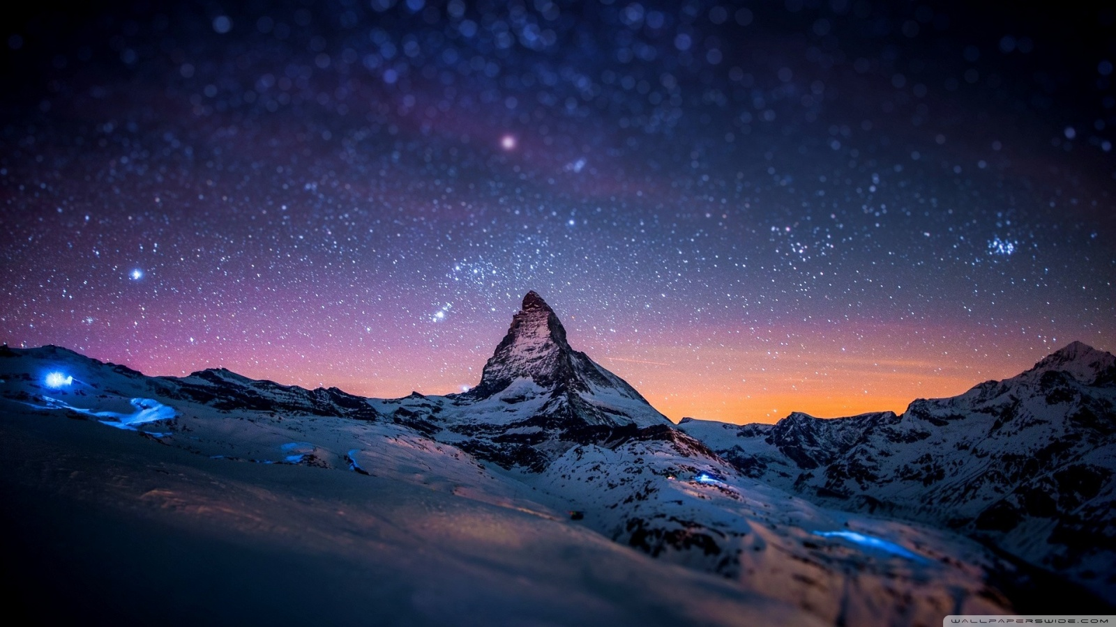Mountain At Night Wallpaper
