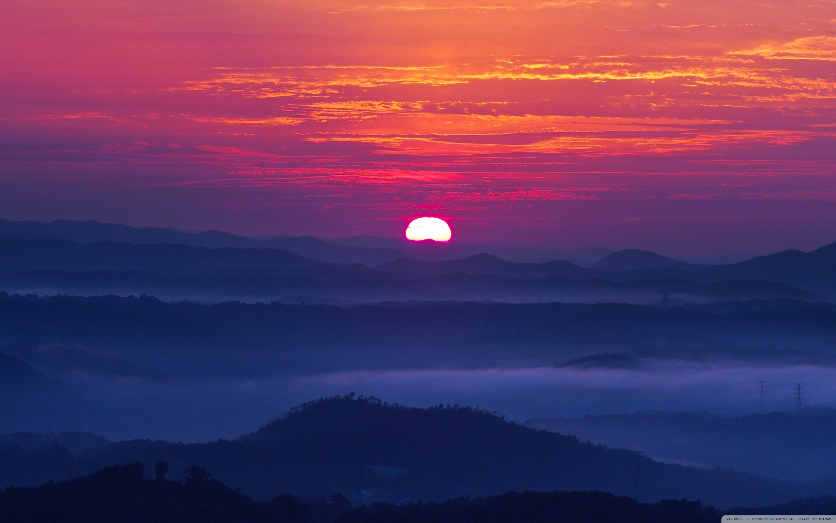Download Mountain Sunset Wallpaper Gallery