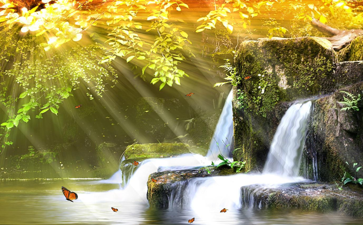 Moving Waterfall Wallpaper