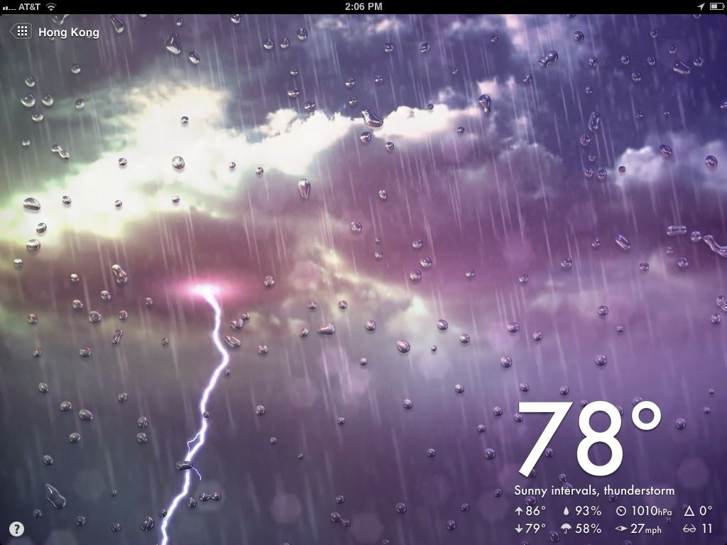 Moving Weather Wallpaper