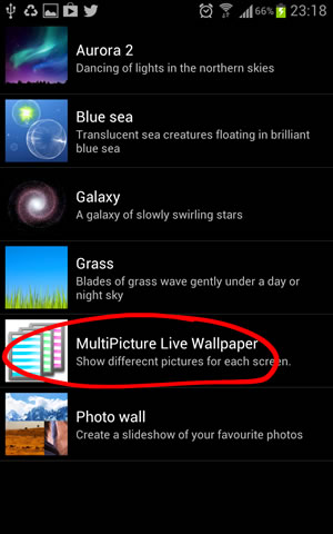 Multipicture Live Wallpaper Tutorial